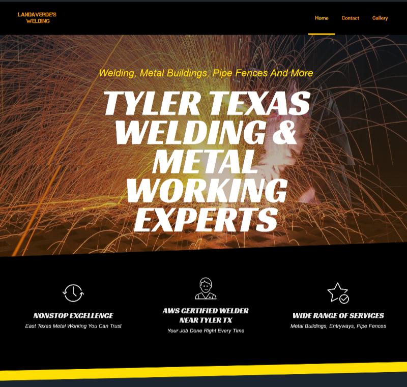 website design for tyler tx welder