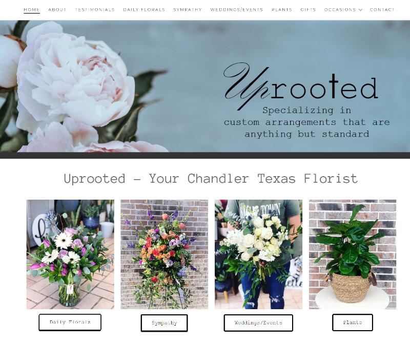 chandler tx florist website design