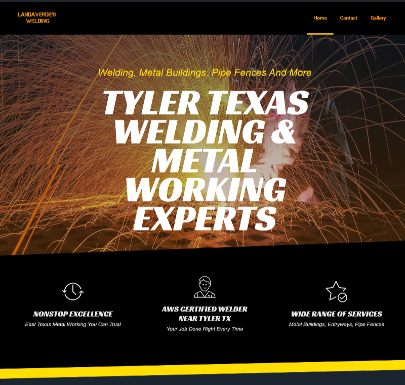 website design for tyler tx welder