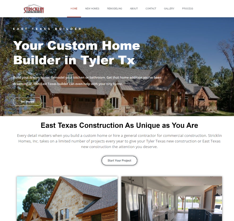 tyler tx home builder website