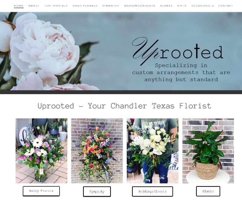 chandler tx florist website design